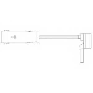Контрольный контакт износа тормозных колодок DELPHI LZ0153 - изображение