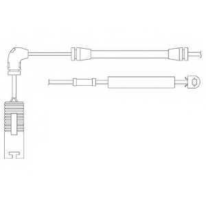 Контрольный контакт износа тормозных колодок DELPHI LZ0157 - изображение