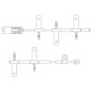 Контрольный контакт износа тормозных колодок DELPHI LZ0164 - изображение