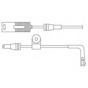 Контрольный контакт износа тормозных колодок DELPHI LZ0168 - изображение