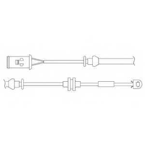 Контрольный контакт износа тормозных колодок DELPHI LZ0176 - изображение