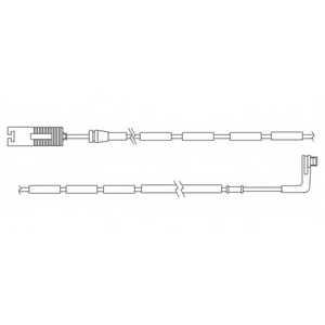Контрольный контакт износа тормозных колодок DELPHI LZ0177 - изображение