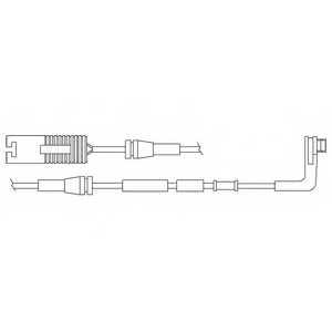 Контрольный контакт износа тормозных колодок DELPHI LZ0178 - изображение