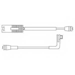 Контрольный контакт износа тормозных колодок DELPHI LZ0179 - изображение