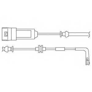 Контрольный контакт износа тормозных колодок DELPHI LZ0186 - изображение