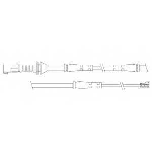 Контрольный контакт износа тормозных колодок DELPHI LZ0239 - изображение