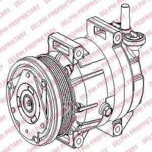 Компрессор кондиционера DELPHI TSP0155953 - изображение
