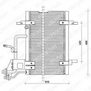 Конденсатор кондиционера DELPHI TSP0225011 - изображение