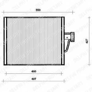 Конденсатор кондиционера DELPHI TSP0225018 - изображение