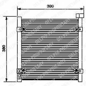 Конденсатор кондиционера DELPHI TSP0225422 - изображение