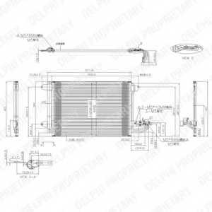 Конденсатор кондиционера DELPHI TSP0225482 - изображение
