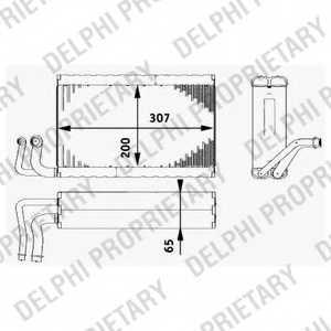 Испаритель кондиционера DELPHI TSP0525182 - изображение