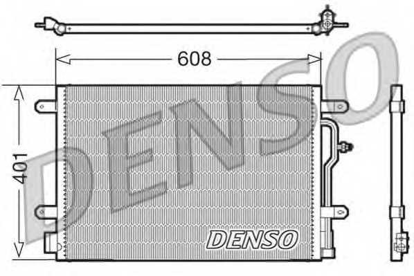 Конденсатор кондиционера DENSO DCN02011 - изображение