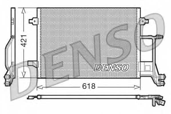 Конденсатор кондиционера DENSO DCN02013 - изображение