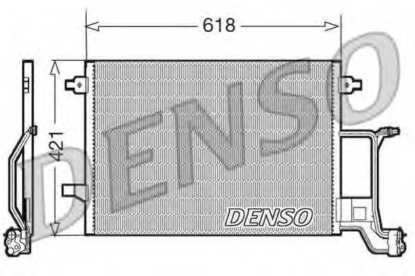Конденсатор кондиционера DENSO DCN02015 - изображение