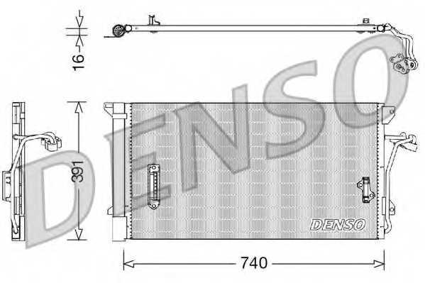 Конденсатор кондиционера DENSO DCN02027 - изображение
