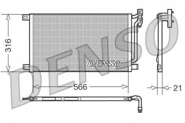 Конденсатор кондиционера DENSO DCN05003 - изображение