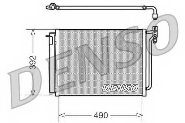 Конденсатор кондиционера DENSO DCN05009 - изображение