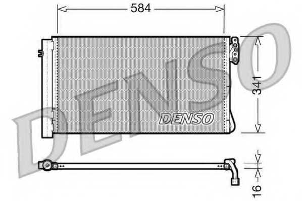 Конденсатор кондиционера DENSO DCN05012 - изображение
