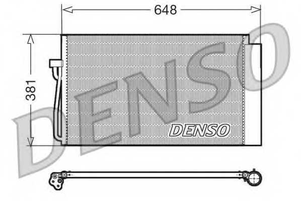 Конденсатор кондиционера DENSO DCN05017 - изображение