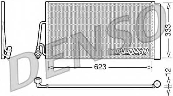 Конденсатор кондиционера DENSO DCN05102 - изображение