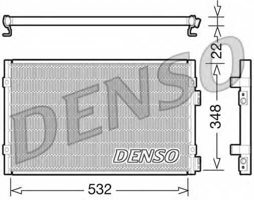 Конденсатор кондиционера DENSO DCN06002 - изображение