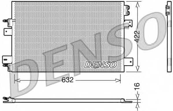 Конденсатор кондиционера DENSO DCN06007 - изображение