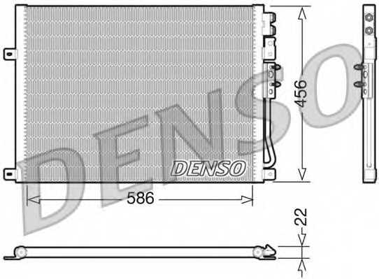 Конденсатор кондиционера DENSO DCN06009 - изображение