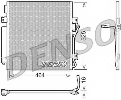 Конденсатор кондиционера DENSO DCN06011 - изображение