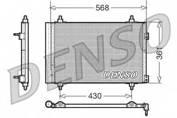 Конденсатор кондиционера DENSO DCN07008 - изображение