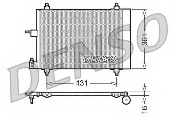 Конденсатор кондиционера DENSO DCN07009 - изображение