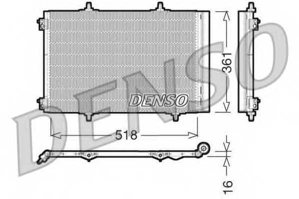 Конденсатор кондиционера DENSO DCN07013 - изображение