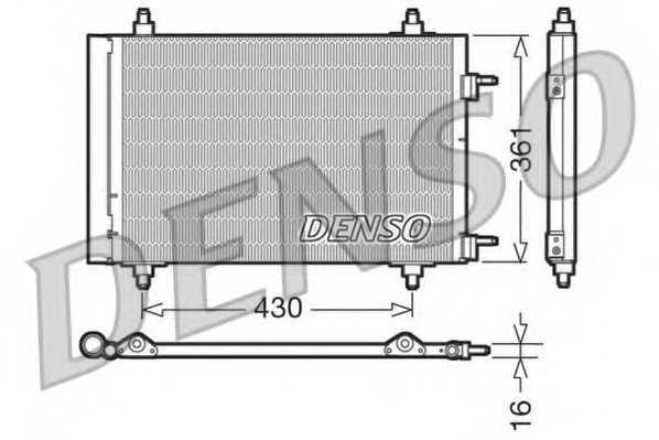 Конденсатор кондиционера DENSO DCN07019 - изображение
