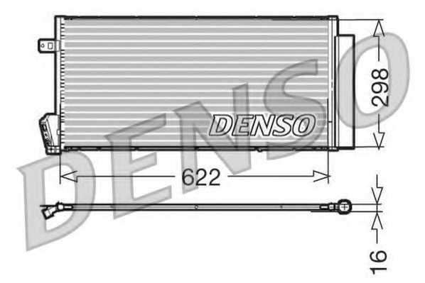 Конденсатор кондиционера DENSO DCN09018 - изображение