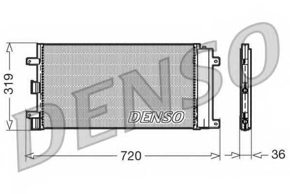 Конденсатор кондиционера DENSO DCN09042 - изображение