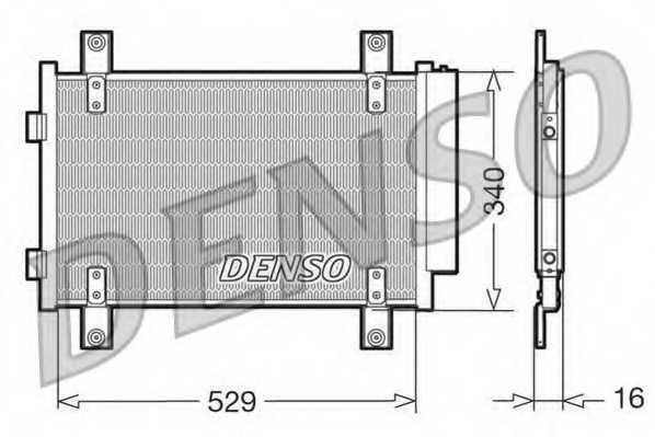Конденсатор кондиционера DENSO DCN09049 - изображение