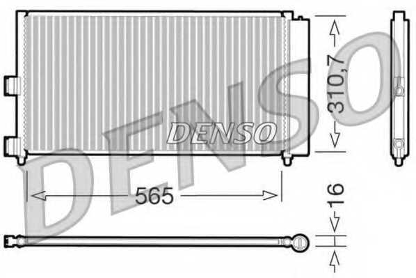 Конденсатор кондиционера DENSO DCN09070 - изображение