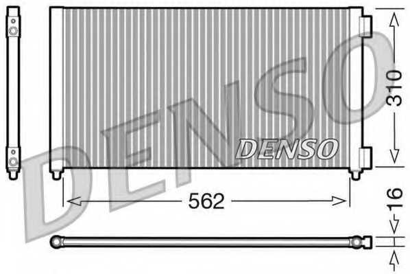 Конденсатор кондиционера DENSO DCN09102 - изображение