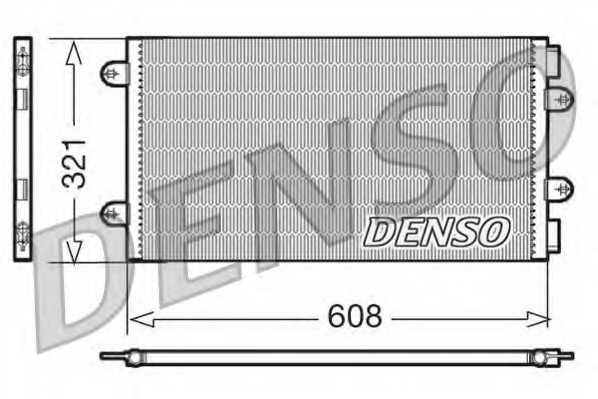 Конденсатор кондиционера DENSO DCN09104 - изображение