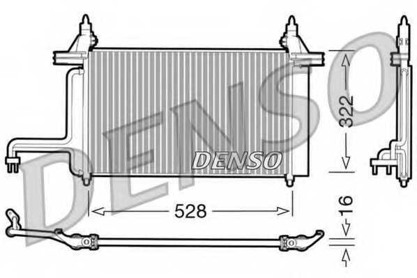 Конденсатор кондиционера DENSO DCN09130 - изображение