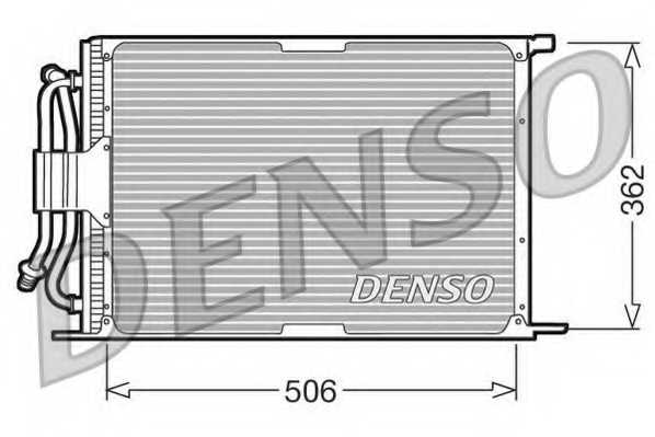 Конденсатор кондиционера DENSO DCN10005 - изображение
