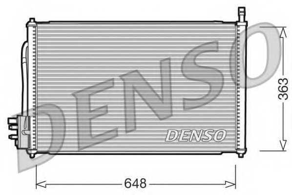 Конденсатор кондиционера DENSO DCN10006 - изображение