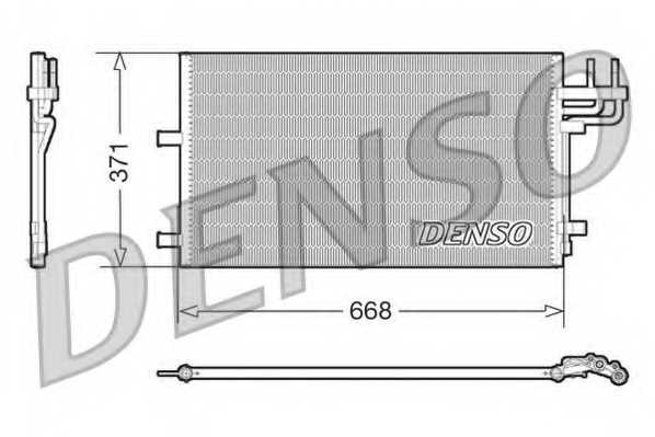 Конденсатор кондиционера DENSO DCN10007 - изображение