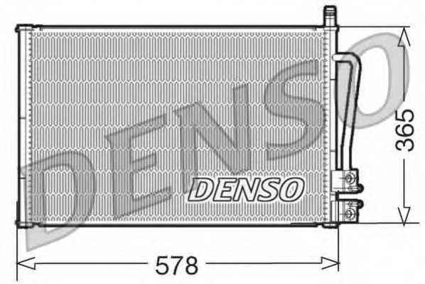 Конденсатор кондиционера DENSO DCN10008 - изображение