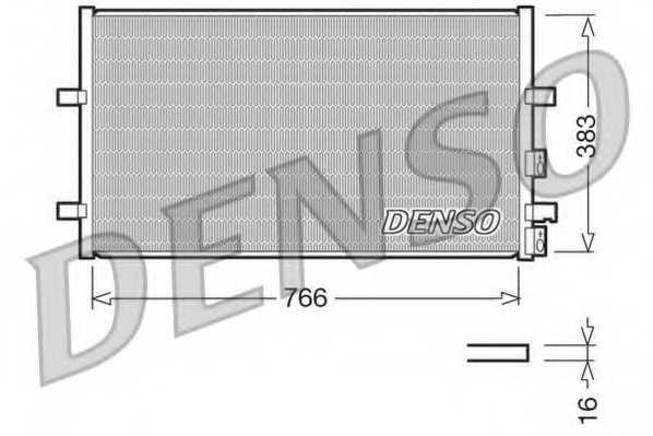 Конденсатор кондиционера DENSO DCN10009 - изображение