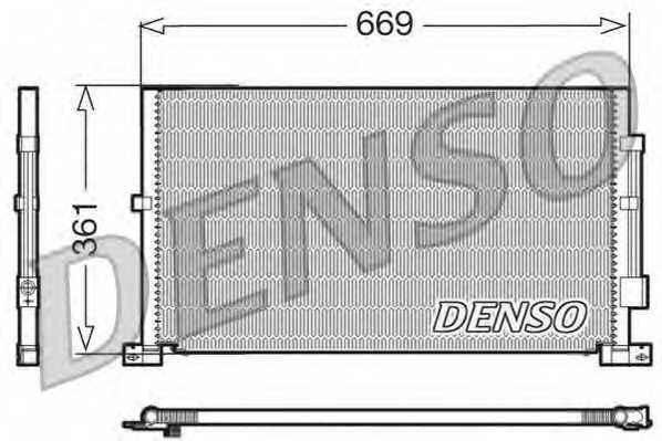 Конденсатор кондиционера DENSO DCN10012 - изображение
