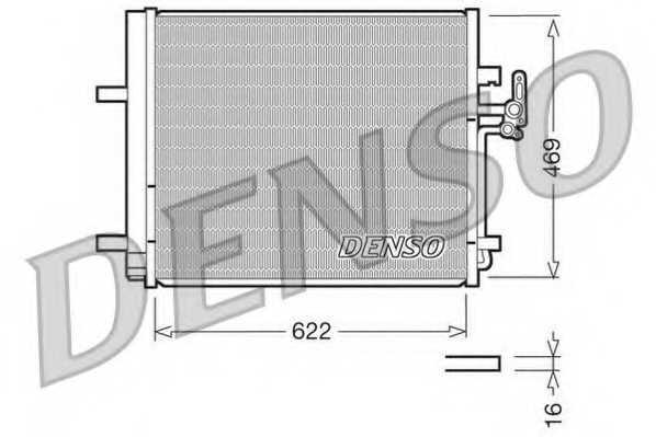 Конденсатор кондиционера DENSO DCN10016 - изображение