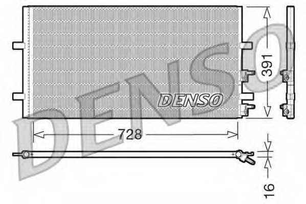Конденсатор кондиционера DENSO DCN10017 - изображение