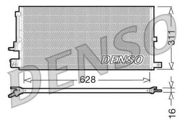 Конденсатор кондиционера DENSO DCN11007 - изображение