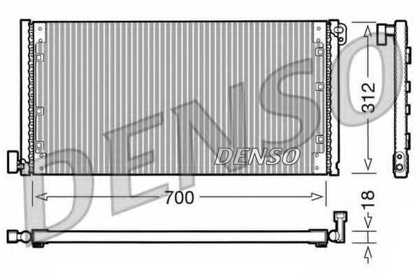 Конденсатор кондиционера DENSO DCN12001 - изображение